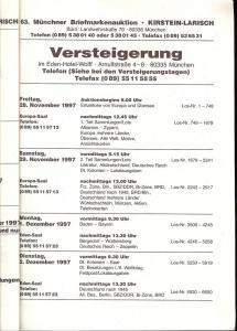 Larish: Sale # 63  -  63. Auktion, Peter Kirsten & A. Lar...