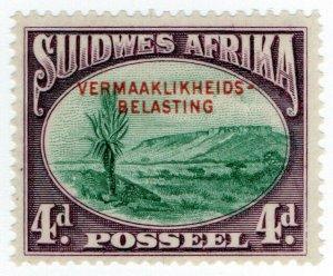 (I.B-BOB) South-West Africa Revenue : Entertainment Tax 4d (Afrikaans)