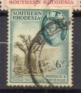 Southern Rhodesia 1953 Issue Fine Used 6d. NW-117554