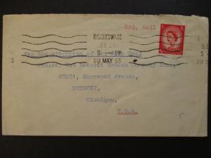 1953 Biggleswade England Detroit Michigan Weatherly Oilgear Co Advertising Cover
