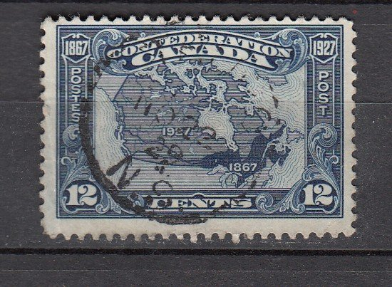 J26206 jlstamps 1927 canada used #145 map