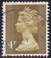 Great Britain #629 4P Queen Elizabeth 2, Stamp used F-VF