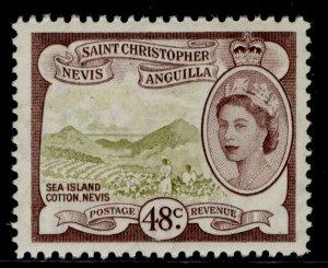 ST KITTS-NEVIS QEII SG115, 48c olive-bistre & chocolate, NH MINT.