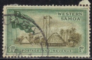 SOMOA SCOTT# 204  USED  1p  1952  FLAGSSEE SCAN