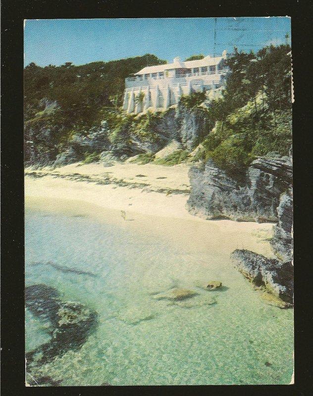 Bermuda 121A on Postmarked 1953 Hamilton to USA Postcard Used