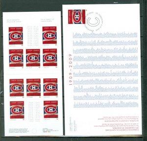 CANADA HOCKEY MONTREAL CANADIANS #2339 BKLT + FDC...$20.00