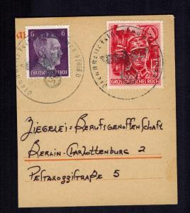 1945 Berlin Germany Feldpost Postcard Cover Piece  # B293