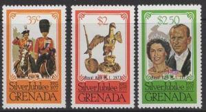 GRENADA SG896/8 1977 SILVER JUBILEE p11½x12 MNH