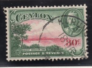 Ceylon 1935 Early Issue Fine Used 30c. 296548