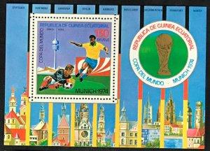 Equatorial Guinea #MiBl95 MNH S/S CV€7.00 FIFA Fußball-Weltmeisterschaft