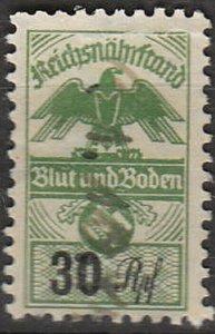 Stamp Germany Revenue WWII War War Era Fascism Import Duty Tax 030 Used