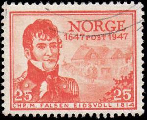Norway Scott 282 Christian Falsen Used