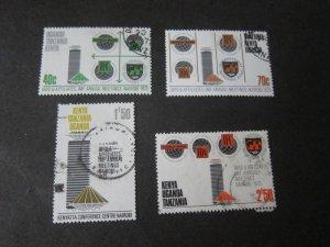 Kenya Uganda Tanganyika 1973 Sc 267-70 set FU