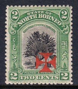 NORTH BORNEO — SCOTT B2 (SG 190) — 1916 2c SEMI-POSTAL (VERM. INK)— MH — SG £48