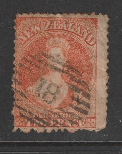 New Zealand a used 2d orange old QV (full face queen)