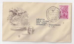 Argentina FDC 1948 Sc# 579 Postal Service Plata River