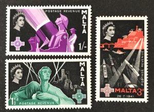 Malta 1958 #266-8, MNH, CV $.75