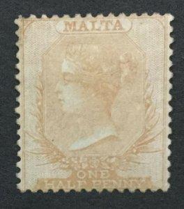 MOMEN: MALTA SG #1 BLUE PAPER BUFF 1860 UNUSED LOT #194333-2823