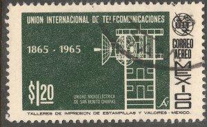 MEXICO C304, Centenary of the I. T. U., USED. VF. (634)