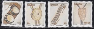 Namibia # 787-790, Traditional Adornments - Jewelry, NH, 1/2 Cat
