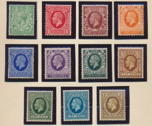 Great Britain Stamps Scott #210 To 220, Mint Hinged - Free U.S. Shipping, Fre...