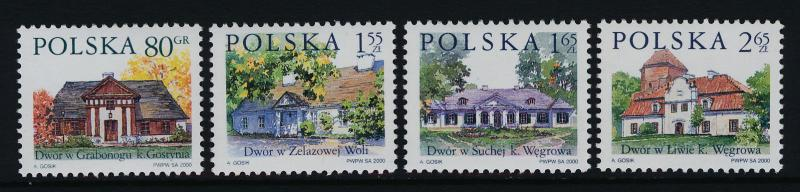 Poland 3511-4 MNH Country Estates, Architecture