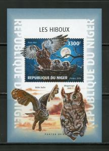 NIGER  2018  OWLS  SOUVENIR  SHEET MINT NEVER HINGED