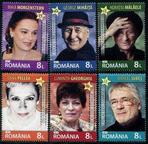 HERRICKSTAMP NEW ISSUES ROMANIA Sc.# 6042-47 Actors 2017