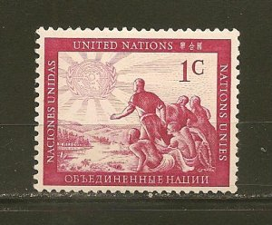 United Nations 1 Peoples of the World MNH