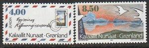 1995 Greenland - Sc 291-2 - MNH VF - 2 single - Europa