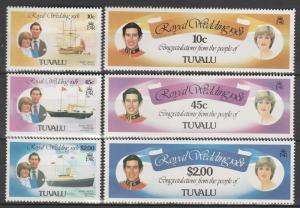 Tuvalu #157-62 MNH  CV $2.90 (S6438)