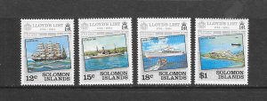 SOLOMON ISLANDS #521-4   LLOYD'S LIST  MNH