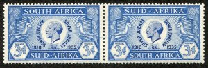 South Africa, Scott #70, Unused, Hinged & MNH pair