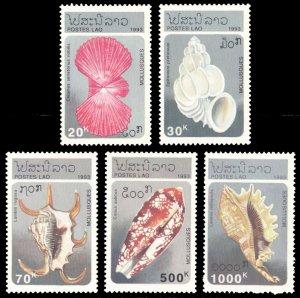 Laos 1993 SHELLS Scott #1130-1134 Mint Never Hinged