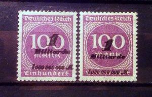 Germany Inflation Mi 331 Shades **