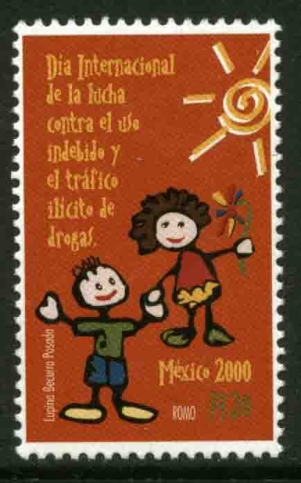 MEXICO 2189, CAMPAIGN AGAINST THE USE OF ILLEGAL DRUGS. MINT, NH. VF.