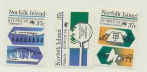 Norfolk Island Scott #437 To 439, SYDPEX 1988 Issue From 1988, Mint Never Hin...