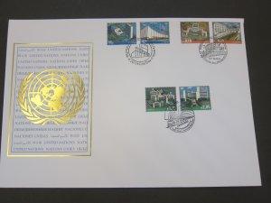 United Nations (NY,Vienna,Geneva) 2011 Sc 481-2,530-1,1020-1 FDC