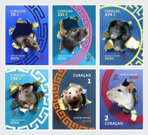 Stamps Curacao 2020. - Chinese New Year 2020 - Year of the Rat - Set.