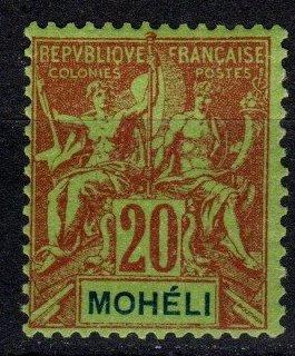 Moheli #6  F-VF Unused CV $13.00  (X4073)