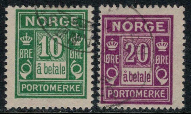 Norway #J8-9  CV $11.50