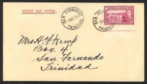 Trinidad & Tobago Sc# 54 FDC 1941 5.1 5C George VI