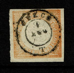 Peru SC# 15 Used / Cuzco Cancel / 2 Margin Tiny Pinholes - S9058