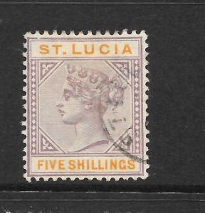 ST LUCIA 1891-98  5/-     QV   FU    SG 51
