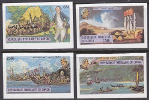 Congo People's Republic Sc #489-492 MNH Imperforate