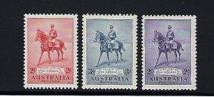 AUSTRALIA SCOTT #152-154 1935 GEORGE V SILVER JUBILEE-  MINT NEVER  HINGED