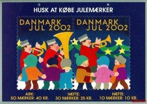 Denmark. Christmas Seal. 2002. 1 Post Office,Display,Advertising Sign. Mailmen