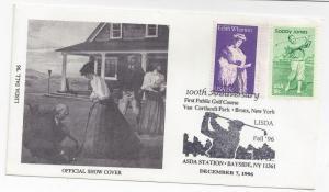 LISDA 1996 Stamp Show Event Cover ASDA Station Golf Cachet