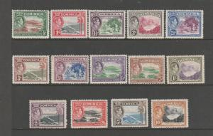 Dominica 1938 Defs 1/2d to 10/- MM SG 99/108a