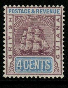 BRITISH GUIANA SG195 1889 4c DULL PURPLE & ULTRAMARINE MTD MINT